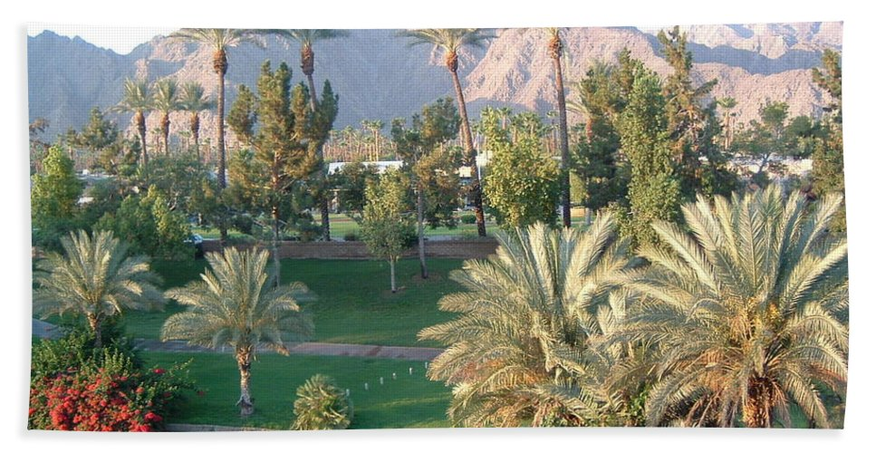 Landscape Beach Sheet featuring the photograph Palm Springs Ca by Cheryl Ehlers