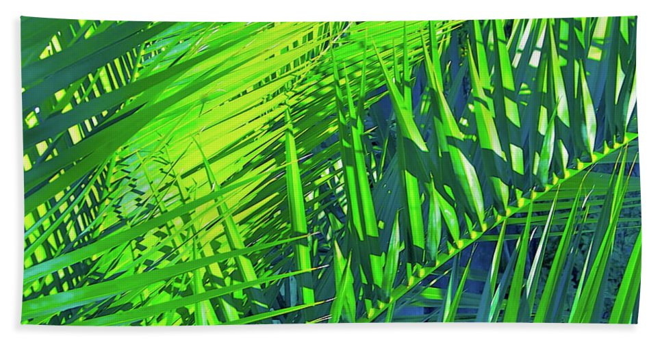Palm Trees Beach Towel featuring the photograph Palms 2 by Pamela Cooper