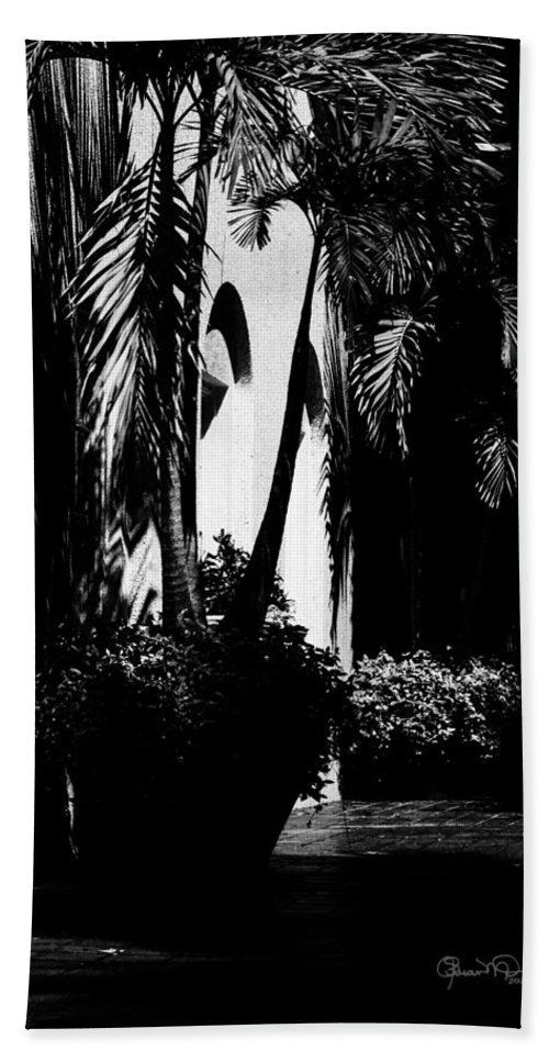 Beach Towel featuring the photograph Palms And Arches by Susan Molnar