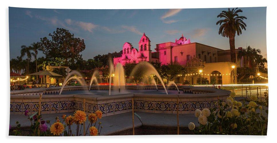 San Diego Beach Sheet featuring the photograph Panama Fountain by TM Schultze