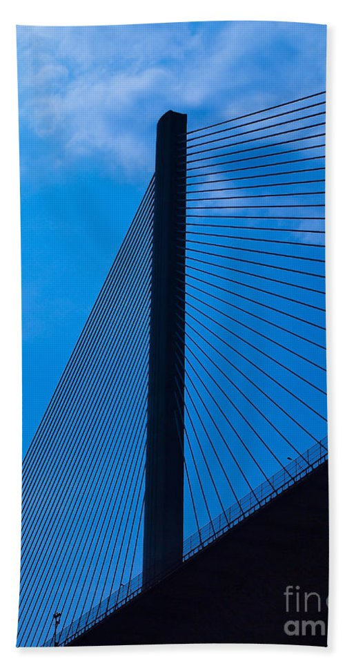 Bridge Beach Towel featuring the photograph Panama074 by Howard Stapleton