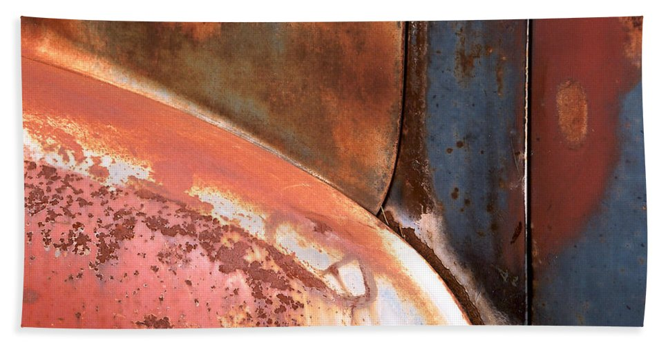 Abstract Beach Towel featuring the photograph Panel From Ole Bill by Steve Karol