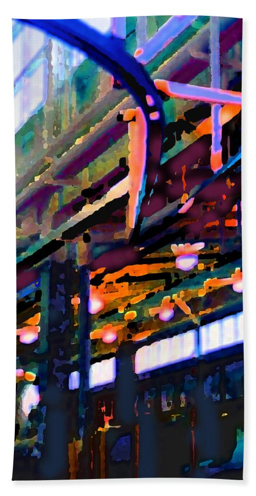 Abstract Beach Towel featuring the photograph panel two from Star Factory by Steve Karol
