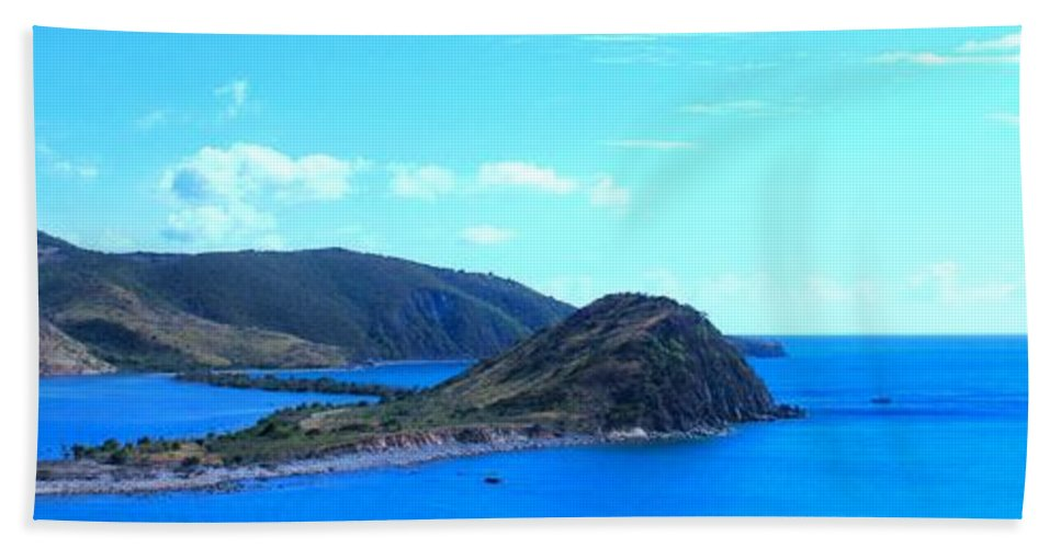 St Kitts Beach Sheet featuring the photograph Panhandle by Ian MacDonald