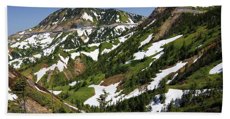 Beautiful Beach Towel featuring the photograph Panorama road by Takaaki Miyashita