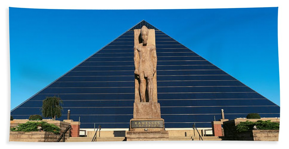 Photography Beach Towel featuring the photograph Panoramic View Of Statue Of Ramses by Panoramic Images