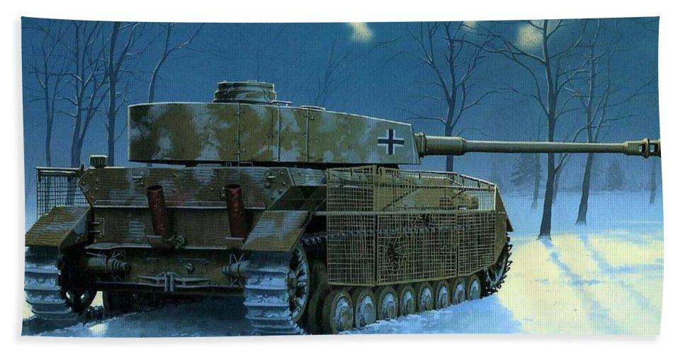 Panzer Iv Tank Painting-484 Beach Sheet