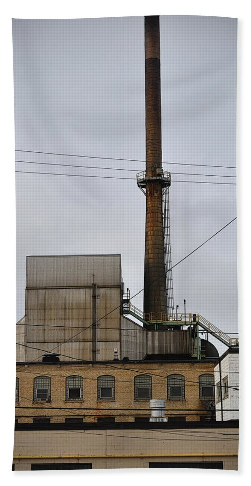 Paper Mill Beach Towel featuring the photograph Paper Mill 2 by Tim Nyberg