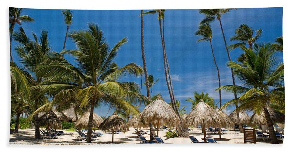 Beach Beach Towel featuring the photograph Paradise Beach by Sebastian Musial