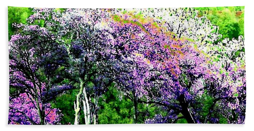 Photo Design Beach Towel featuring the digital art Paradise Hills by Will Borden