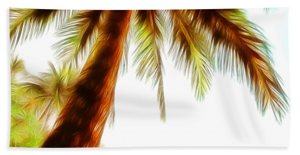 Tropical Palm Trees Beach Towel featuring the photograph Paradise Palm by Athena Mckinzie