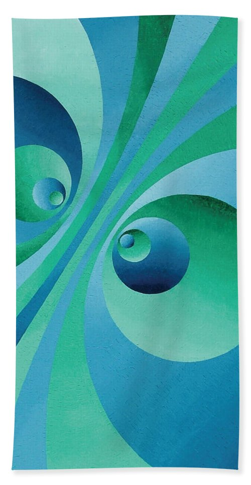 Oil Beach Towel featuring the painting Parallel Universes by Peter Antos