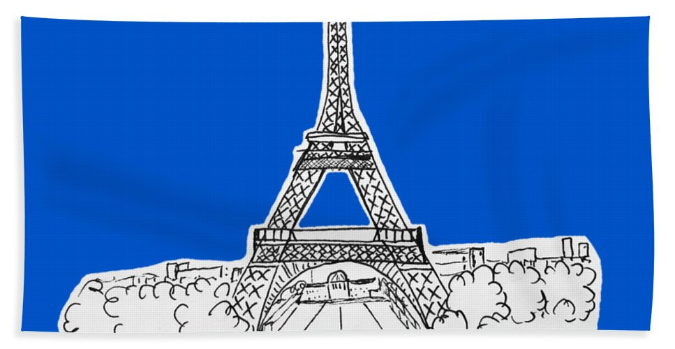 Paris Beach Towel featuring the drawing Paris, France No Background by Sheila Lundie