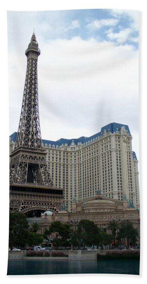 Bellagio Beach Sheet featuring the photograph Paris Hotel by Anita Burgermeister