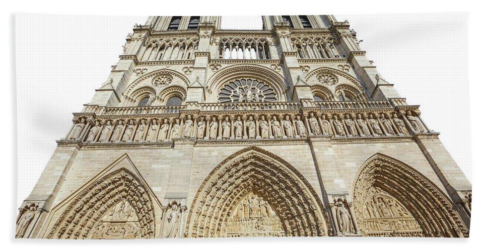 Paris Beach Towel featuring the photograph Paris Notre Dame by Benny Marty