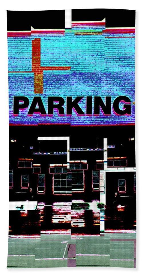 Parking Lot Beach Towel featuring the digital art Parking by Tim Allen
