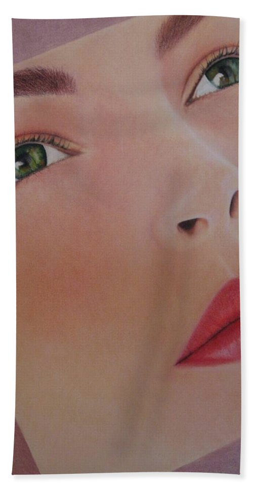 Woman Beach Towel featuring the painting Part Of You 1 by Lynet McDonald