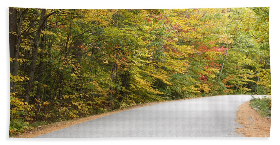 Landscape Beach Towel featuring the photograph Passaconaway Road - White Mountains New Hampshire Usa by Erin Paul Donovan