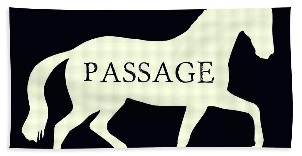 Dressage Beach Sheet featuring the photograph Passage Negative by Dressage Design