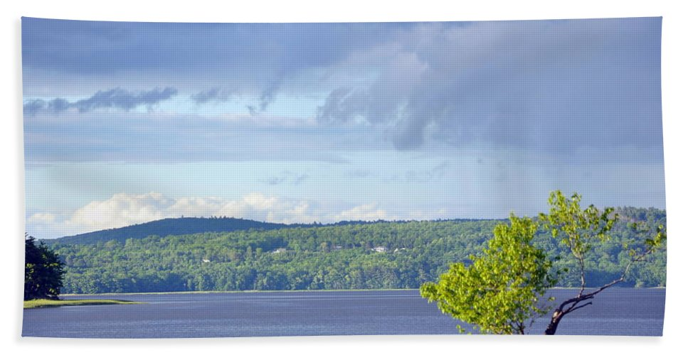 Water Beach Towel featuring the photograph Passing Storm by Glenn Gordon