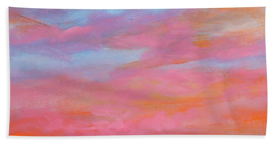Sunrise Beach Towel featuring the painting Passion Beach by Toni Grote
