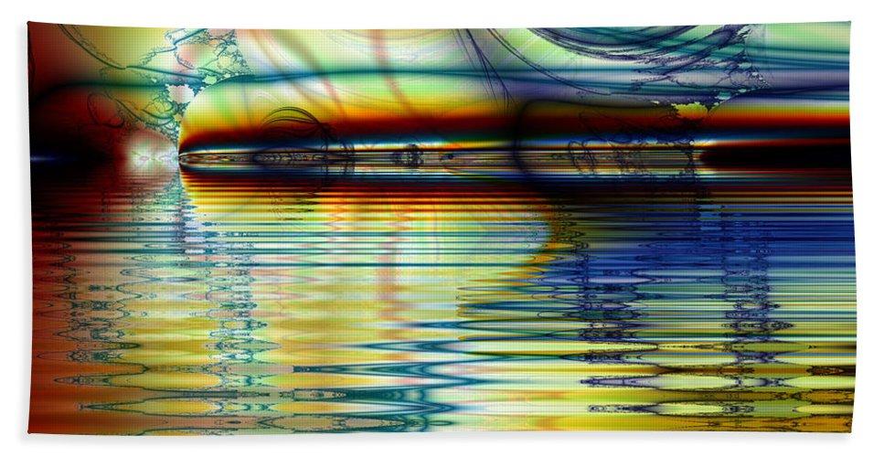 Fractal Beach Towel featuring the digital art Passion by Debra Martelli