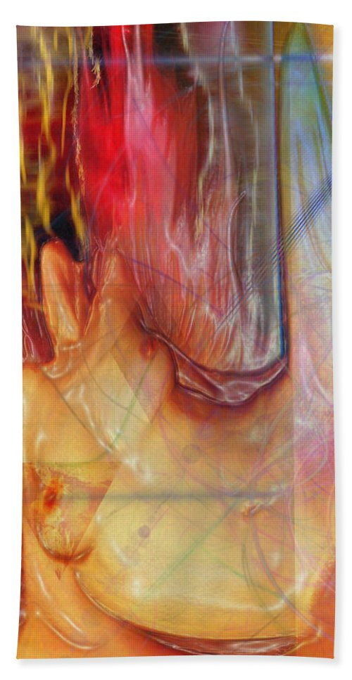 Passion Play Beach Towel featuring the digital art Passion Play by John Beck