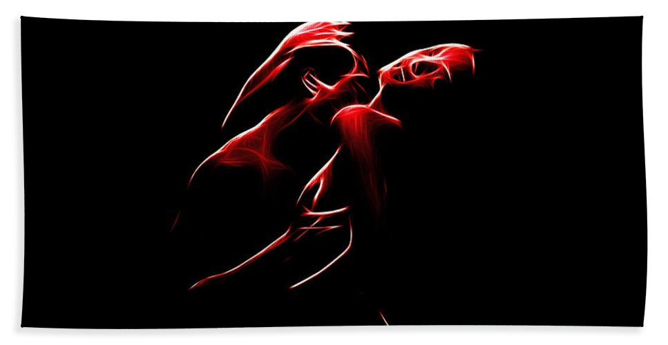 Love Lovers Man Woman Sexual Sex Boobs Breast Tits Nude Female Male Orgasm Beach Towel featuring the digital art Passion by Steve K