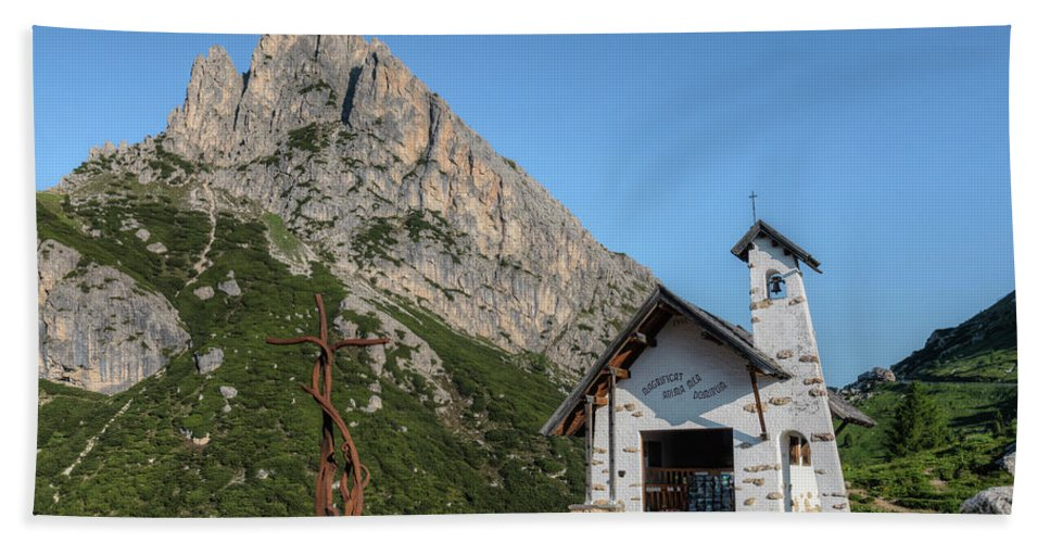 Hexenstein Beach Towel featuring the photograph Passo Di Falzarego - Dolomites by Joana Kruse