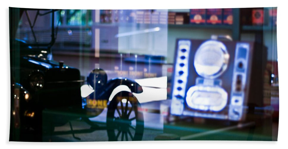 Car Beach Towel featuring the photograph Past Reflections by Scott Wyatt