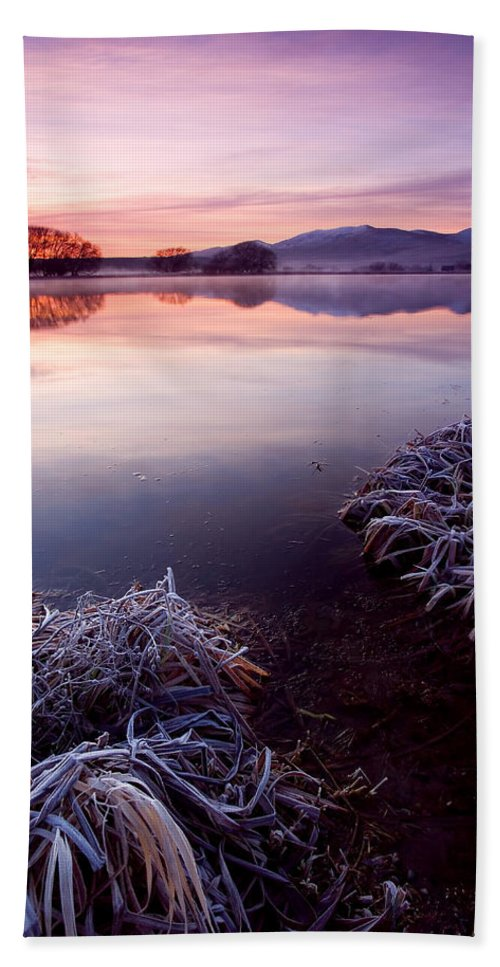Lake Beach Sheet featuring the photograph Pastel Dawn by Mike Dawson