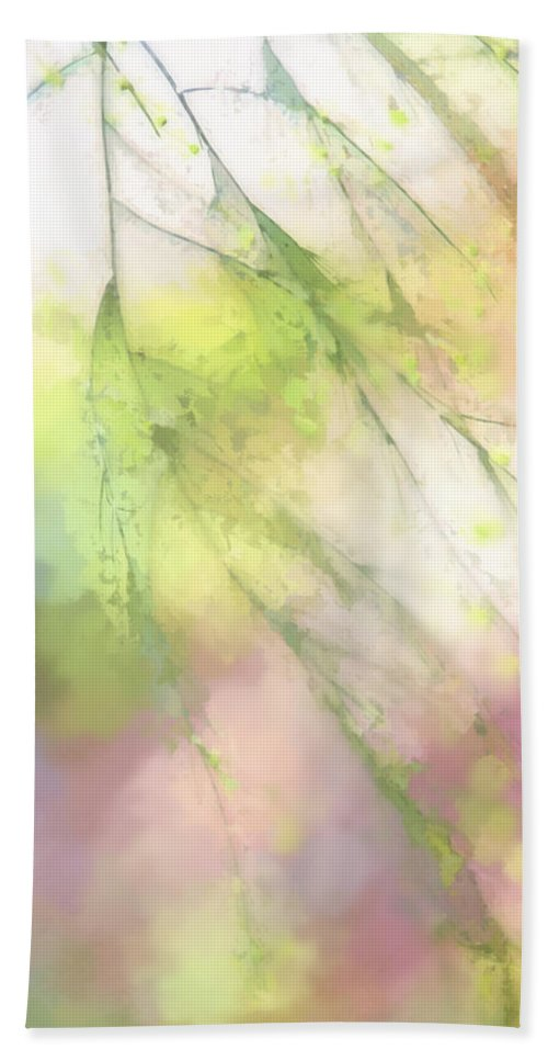 Spring Beach Towel featuring the digital art Pastel Spring Whispers by Terry Davis