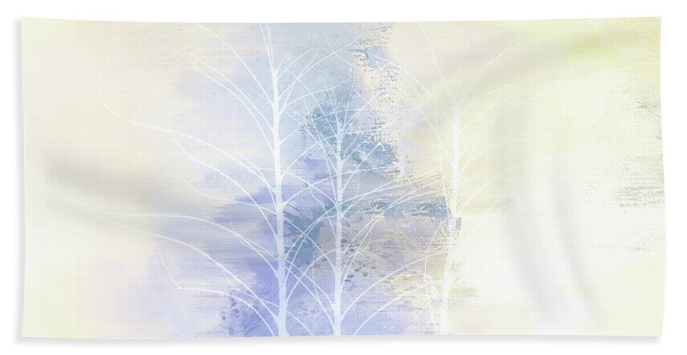 Photography Beach Towel featuring the digital art Pastel Tree Dance by Terry Davis
