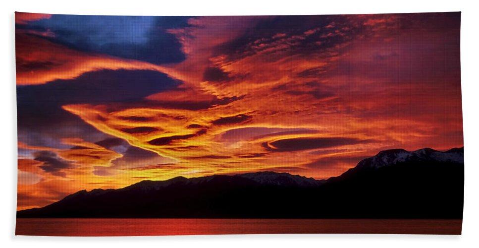 Patagonia Beach Towel featuring the photograph Patagonian Sunrise by Joe Bonita