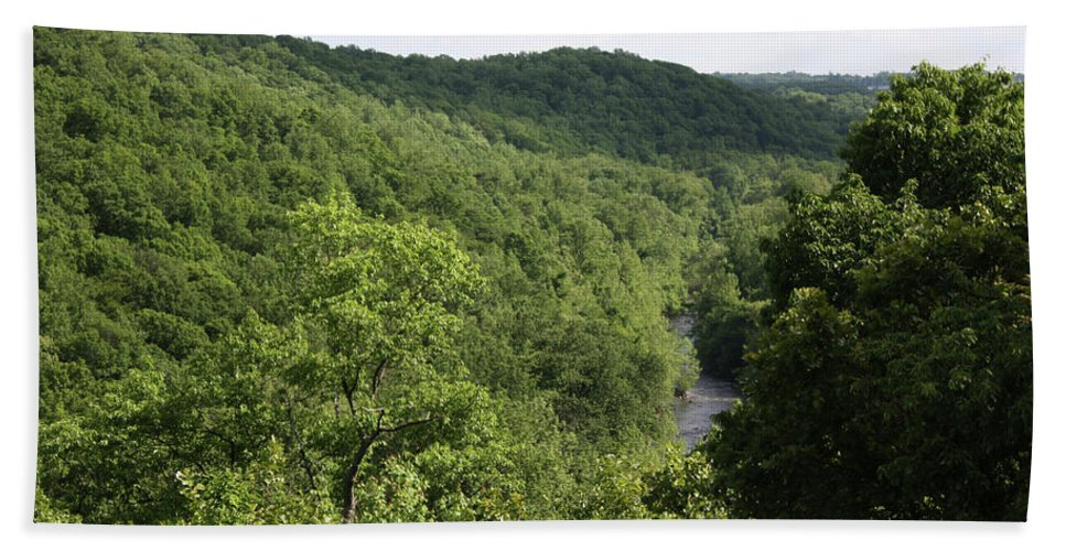 Maryland Beach Towel featuring the photograph Patapsco Valley State Park - Overlook by Ronald Reid