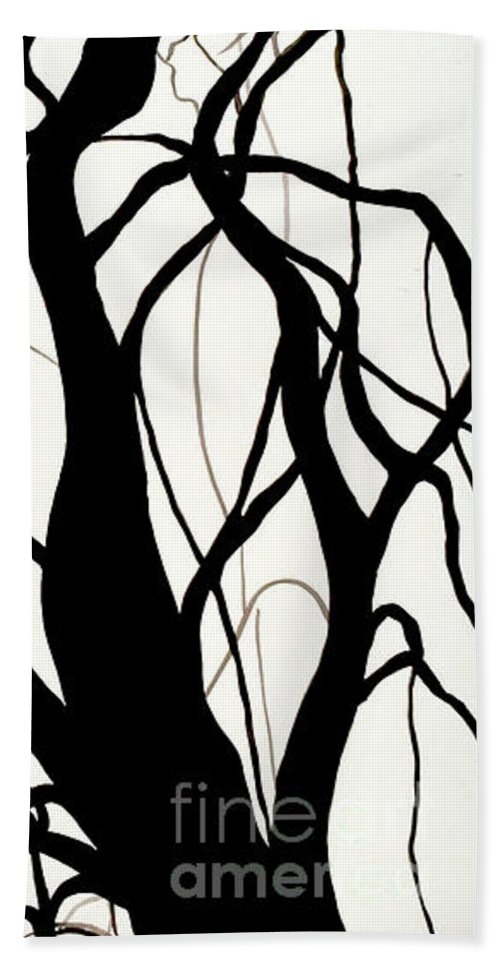 Trees Beach Towel featuring the painting Path by Leila Atkinson
