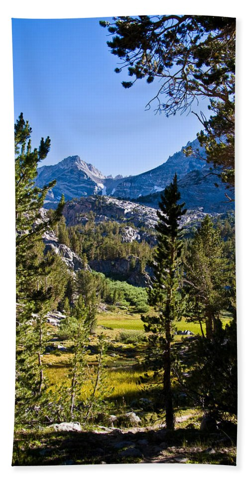 Scenic View Beach Towel featuring the photograph Path To Treasure Lakes by Chris Brannen