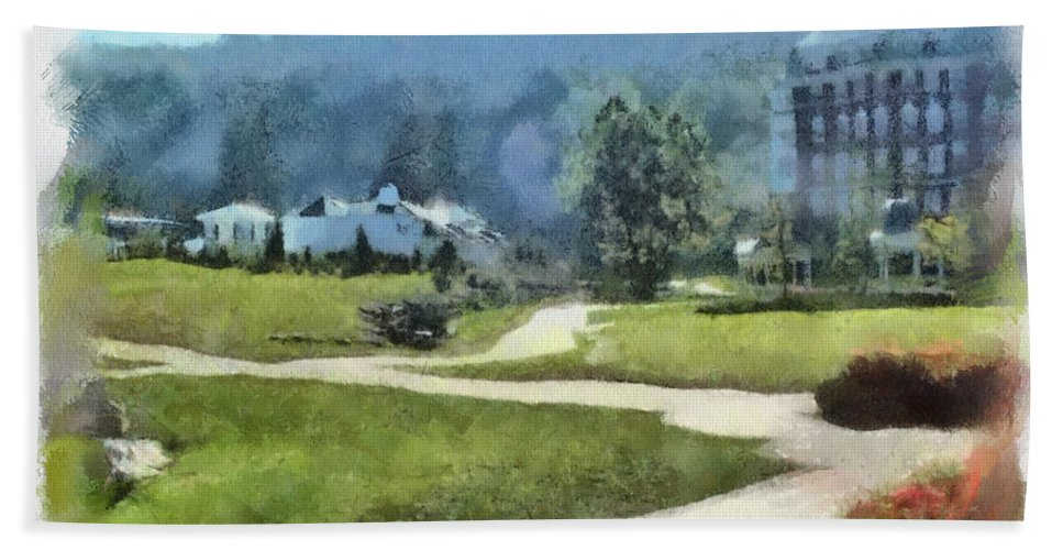 Homestead Beach Towel featuring the painting Pathways by Paulette B Wright