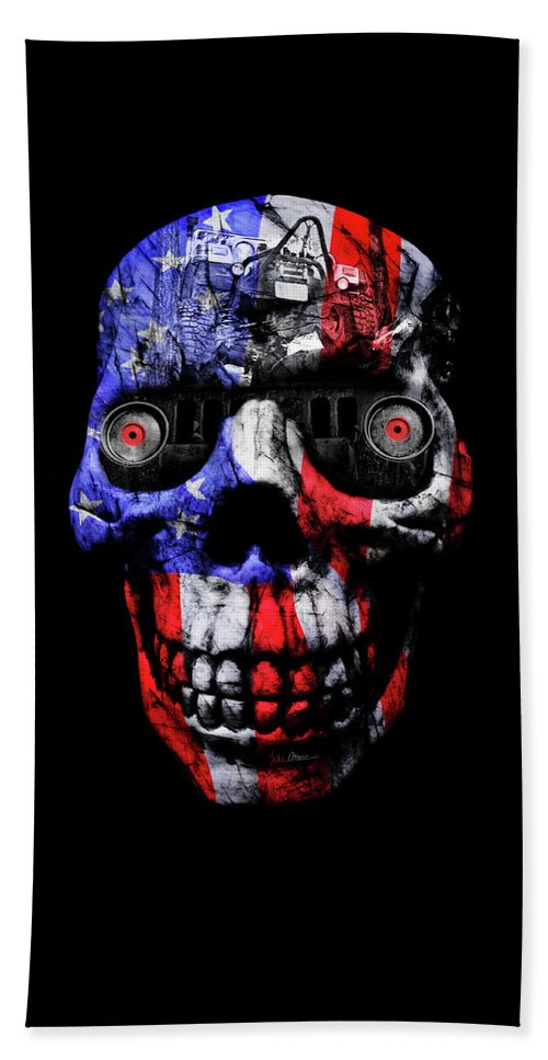 Jeep Beach Towel featuring the photograph Patriotic Jeeper Cyborg Tj Wrangler by Luke Moore