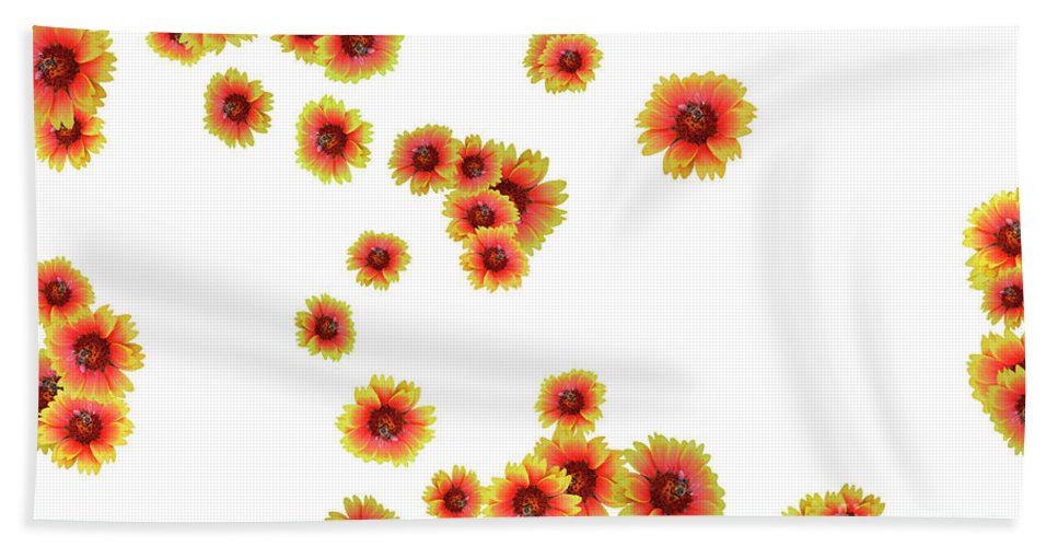 Flowers Beach Towel featuring the photograph Patterns From Flowers by Elvira Ladocki