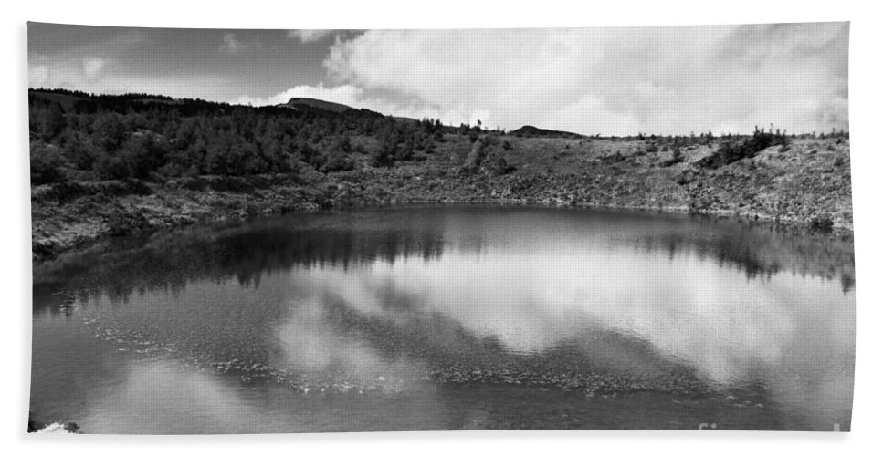 Lake Beach Sheet featuring the photograph Pau-pique Lake by Gaspar Avila