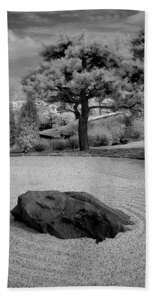 Black And White Infrared Photography Beach Towel featuring the photograph Peace And Harmony by Jane Linders