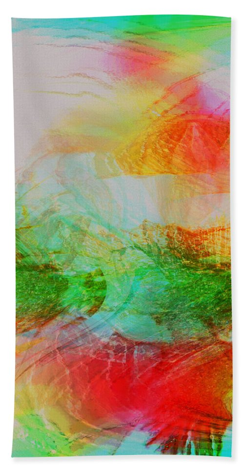 Abstract Art Beach Towel featuring the digital art Peace And Light by Linda Sannuti