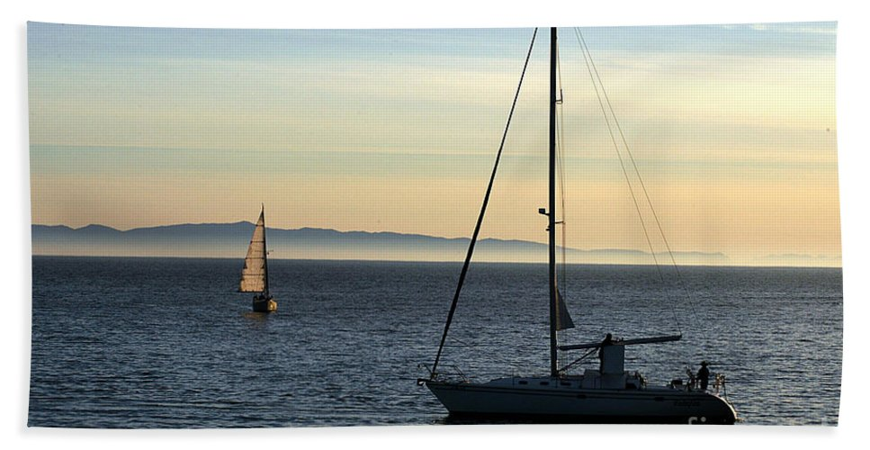 Clay Beach Towel featuring the photograph Peaceful Day In Santa Barbara by Clayton Bruster