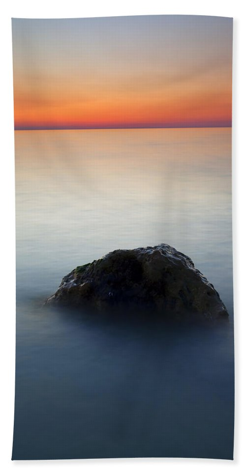 Rock Beach Sheet featuring the photograph Peaceful Isolation by Mike Dawson