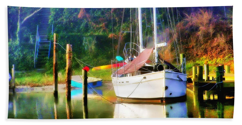 2d Beach Towel featuring the photograph Peaceful Morning In The Cove by Brian Wallace