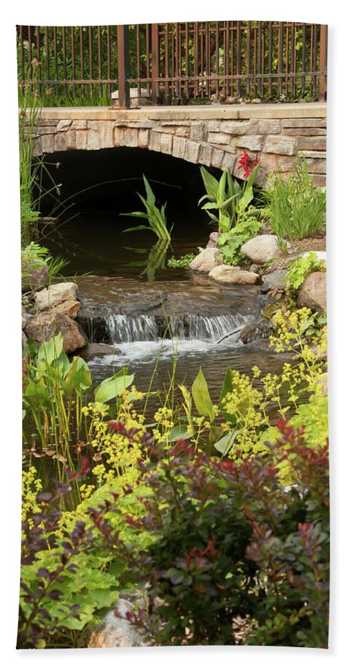 Nature Beach Towel featuring the photograph Peaceful Pond by Deanna Paull