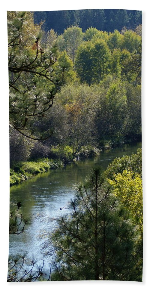 Nature Beach Towel featuring the photograph Peaceful River by Ben Upham III