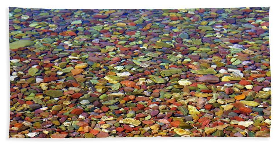 Water Beach Towel featuring the photograph Pebbles by Marty Koch
