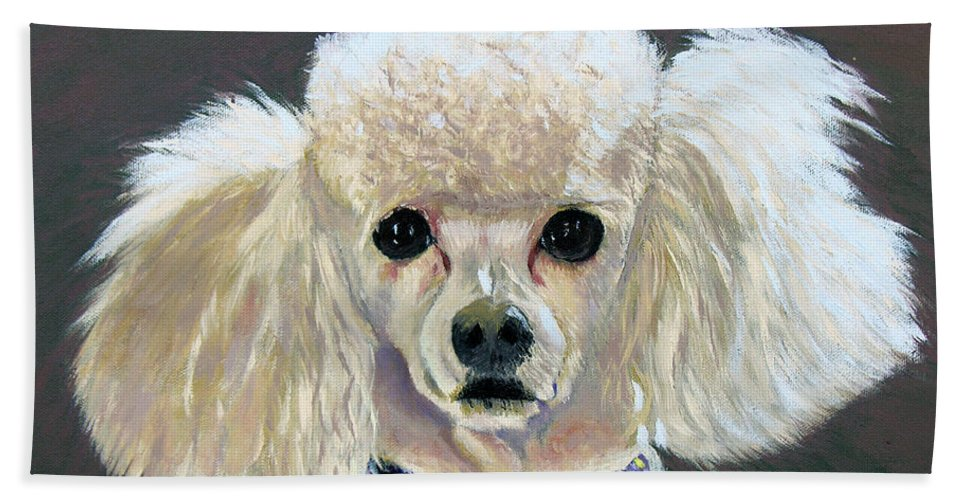 Dog Beach Towel featuring the painting Pebbles by Stan Hamilton